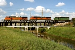 BNSF 4318, BNSF 1064, and FURX 7253